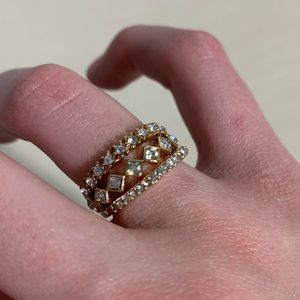5 Gold Rings Size 7